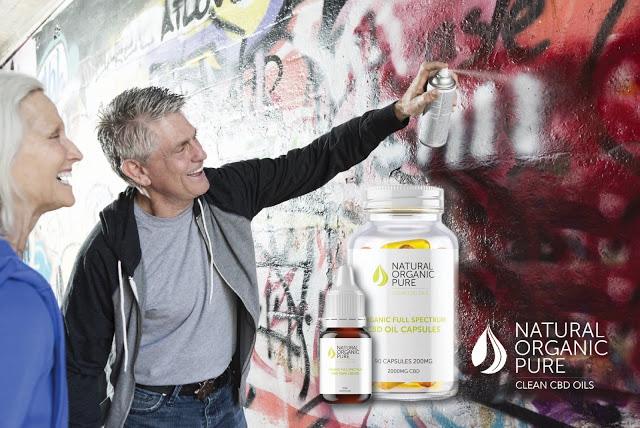 cdb vape | gélules cdb | capsules de pâte de concentré d'huile de cdb | par des huiles naturelles pures et propres au cdb | graffiti couple de personnes âgées