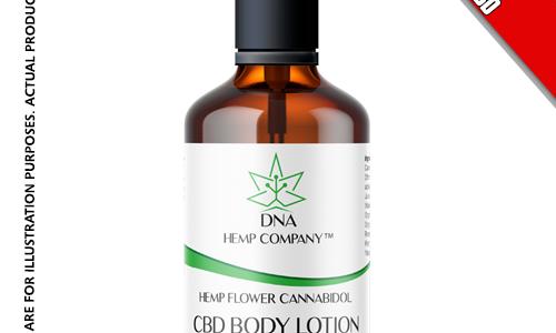 dna hemp flower cbd body lotion 100% usa made