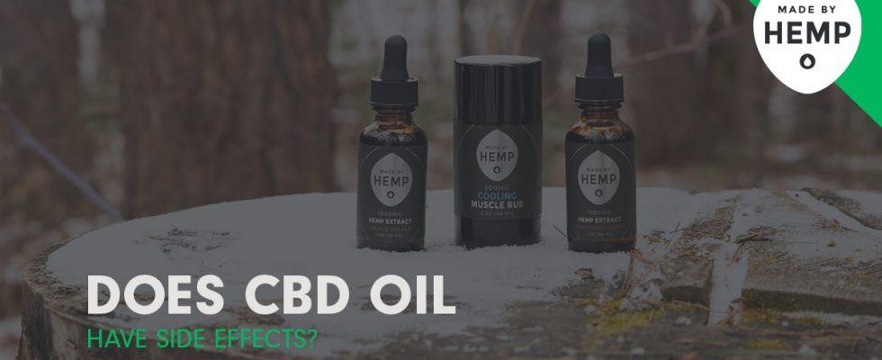 l'huile de CBD a-t-elle des effets secondaires