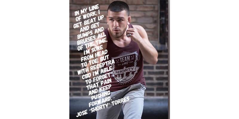 Jose Torres Receptra Naturals MMA CBD