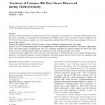 (PDF) Traitement des pierres des voies biliaires communes découvertes lors d'une cholécystectomie